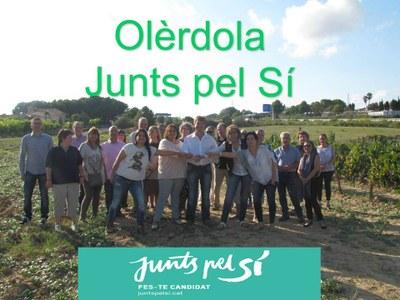 """""""Junts pel Sí"""" és l'única candidatura que fa campanya activa a Olèrdola"""