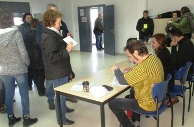 A les 18:00h havien votat a Olèrdola el 73'87% del cens
