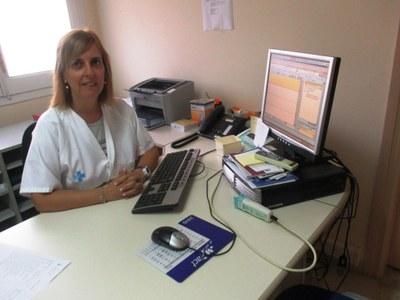 Ascen Casado, infermera als consultoris de Moja i Sant Miquel