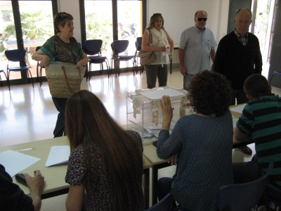 A Olèrdola ja havia votat un 33% del cens electoral a les 14:00h, un punt més que fa quatre anys