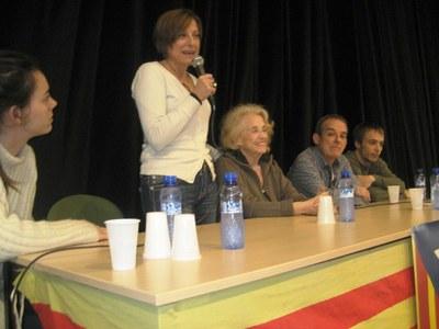 Forcadell participava en un acte a Moja, el febrer de 2014