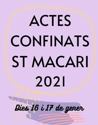 Actes confinats per Sant Macari aquest cap de setmana organitzats per la Comissió de Festes de Moja
