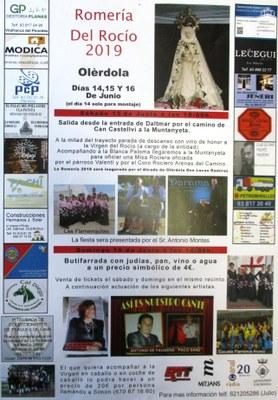 Actuacions musicals dissabte a la nit i diumenge a la tarda ompliran de contingut festiu la Romeria del Rocio d'Olèrdola