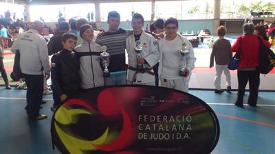 Darrel Lázaro, Laia Flix, Juanjo Farré(entrenador), Daniel Romero i Aina Cornellà