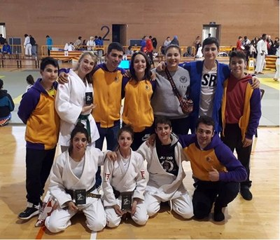 Aira Lázaro, Marc Lázaro i Júlia Queraltó, del Judo Olèrdola, campions de Catalunya cadet