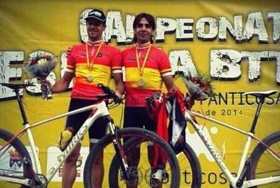 Albert Planas i Pere Joan Roig, del Sans-Olèrdola, s'han proclamat campions d'Espanya màster de BTT