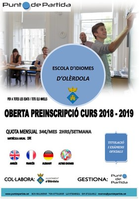Amb el suport de l'Ajuntament, el proper curs començarà a funcionar l'Escola d'Idiomes d'Olèrdola
