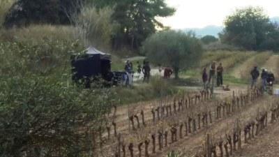 Moment del rodatge a Mas Rabassa