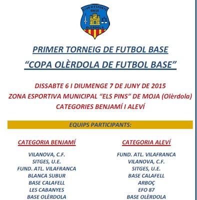 Aquest cap de setmana 17 equips disputaran la 1a Copa Olèrdola de futbol base