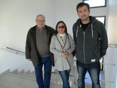 Jaume Pellisa, Anna Molero i David Sellés, de la Comissió de Festes