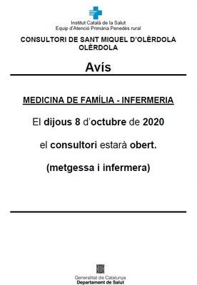 Aquest dijous reobre el consultori mèdic de Sant Miquel d'Olèrdola