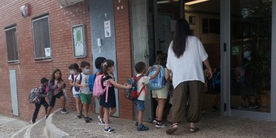 Aquest dilluns 358 alumnes d'educació infantil i primària han començat el curs escolar a Olèrdola
