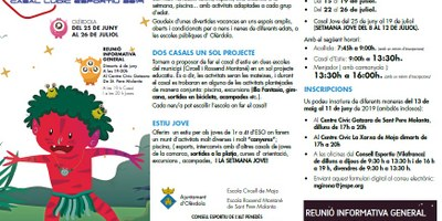 Aquest dimarts es presenta en una reunió al Centre Cívic Gatzara el Casal d'Estiu i el Casal Jove d'Olèrdola