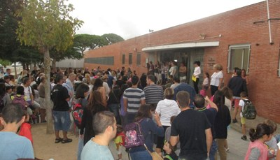 Imatge de l'inici del curs a l'escola Circell de Moja