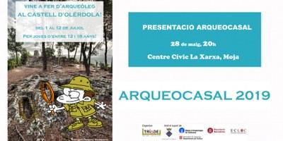 Aquest dimarts, reunió informativa de l'Arqueocasal a les 20:00h al Centre Cívic La Xarxa