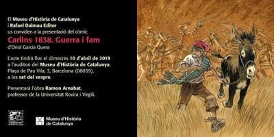 """Aquest dimecres es presenta a Barcelona el còmic """"Carlins 1838.Guerra i fam"""" ambientat en Olèrdola"""