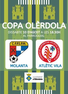 Aquest dissabte el Sant Pere Molanta i l'Atlètic Vilafranca es disputaran la 32a Copa Olèrdola