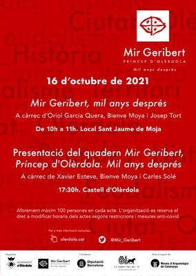 """Aquest dissabte es presenta el quadern """"Mir Geribert, Príncep d'Olèrdola.Mil anys després"""""""