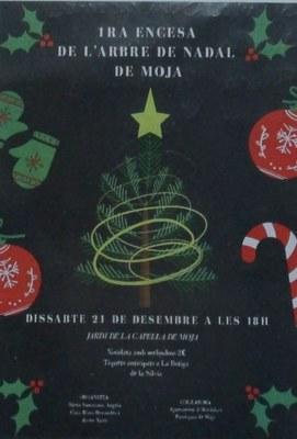 Aquest dissabte hi haurà la 1a encesa de l'arbre de Nadal de Moja