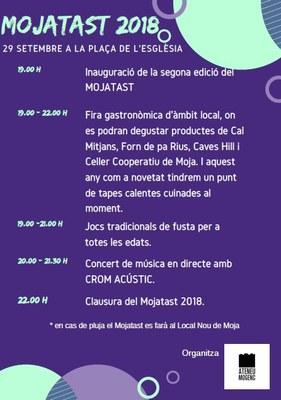 Aquest dissabte l'Ateneu Mogenc organitza la 2a edició del Mojatast