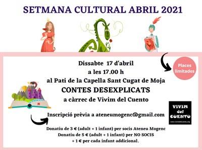 """Aquest dissabte l'Ateneu Mogenc organitza una sessió de """"Contes desexplicats"""" amb la companyia """"Vivim del Cuentu"""""""