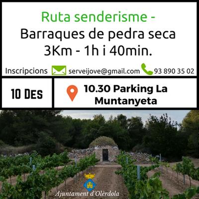 Aquest dissabte l'Ajuntament organitza una ruta per conèixer barraques de pedra seca recuperades