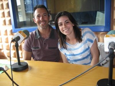 Toni Riera, del gimnàs CAS, i Alba Lozano, fisioterapeuta especialitzada en hipoteràpia