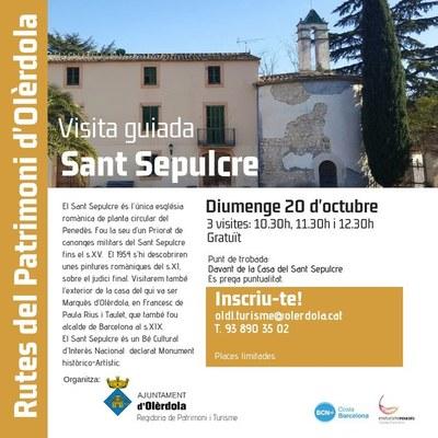 Aquest diumenge es podrà visitar a Olèrdola la capella del Sant Sepulcre