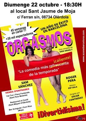 """Aquest diumenge es representa a Moja l'obra de teatre """"Orgasmos"""""""