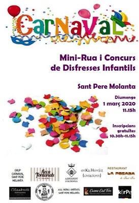 Aquest diumenge s'estrena la Mini-Rua i Concurs de Disfresses Infantils de Sant Pere Molanta
