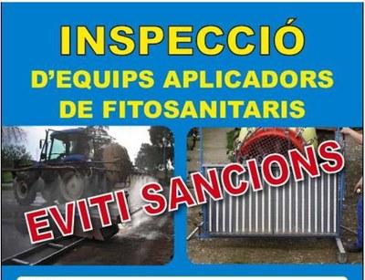 Aquest divendres es podrà fer a Olèrdola la inspecció d'equips aplicadors de fitosanitaris