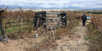Aquest matí s'ha produït un accident a la carretera de Daltmar, el quart registrat en els darrers tres mesos en el mateix punt