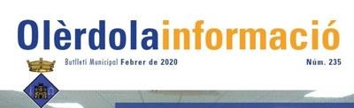 """Aquest mes de març no s'edita el butlletí municipal """"Olèrdola Informació"""""""