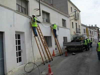 Arriba a Moja el cablejat de fibra òptica per garantir internet a gran velocitat
