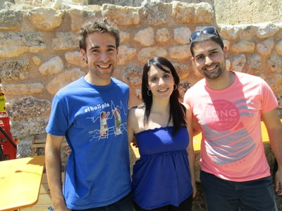 Jordi Gómez, Aina Zapater i Oriol Bertran