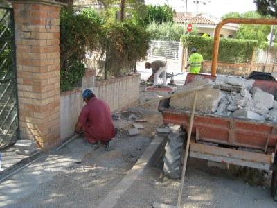 Avancen a bon ritme les obres d'urbanització del carrer Major de Sant Miquel