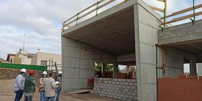 Avancen a bon ritme les obres de construcció del nou consultori mèdic de Moja