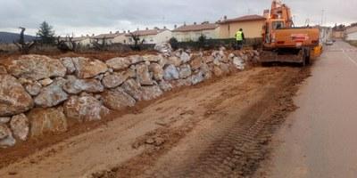 Avancen les obres del camí de vianants de Sant Pere Molanta al barri de Ferran
