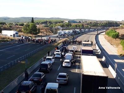 Baixa incidència de la vaga general a Olèrdola però la mobilitat registrava grans afectacions