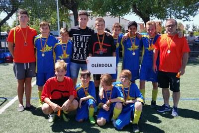 Bon paper de la selecció d'Olèrdola en el Torneig Infantil Comarcal de futbol 7
