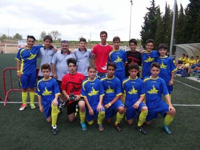 Bona imatge de la selecció d'Olèrdola en el torneig comarcal de futbol 7