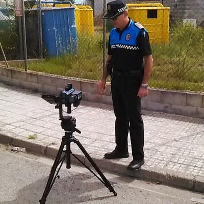 Campanya de control de velocitat a Olèrdola en vies de competència municipal