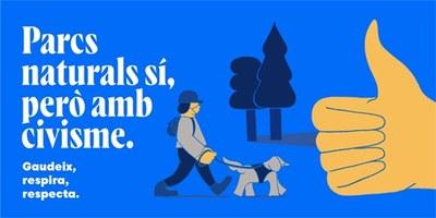 """Campanya de sensibilització ambiental """"Parcs naturals sí, però amb civisme"""""""
