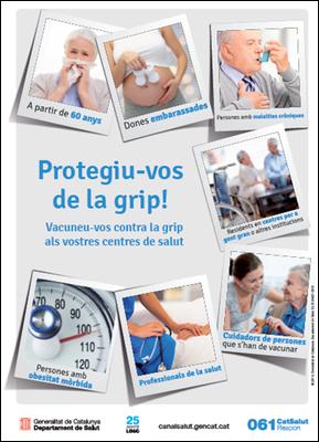 Vacunació contra la grip al consultori de Sant Miquel d'Olèrdola, aquest dimecres de 9 a 10 del matí