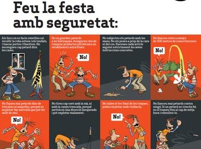 Campanya informativa de l'Ajuntament d'Olèrdola per viure amb precaució les revetlles