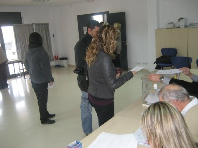 Imatge de la jornada electoral a Olèrdola les passades eleccions al Parlament