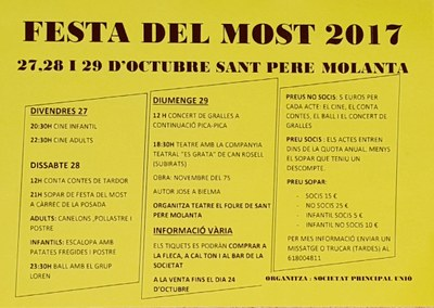 Cap de setmana de Festa del Most a Sant Pere Molanta