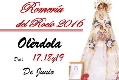 Fragment del cartell que anuncia la Romeria 2016