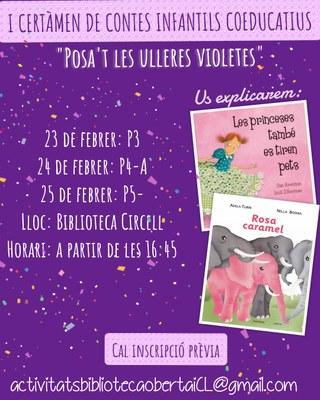Certamen de contes infantils coeducatius  al servei de Biblioteca Oberta d'Olèrdola