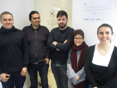 Cristian Villanueva, Gabriel Escuder, Jaime Morales, Tània Herrera i Mariona Rosell